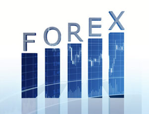 forex text and business graph 3d rendered
